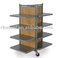 Customized 4 side display stand 4 tier metal display racking by LEFFECK factory