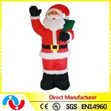 Chraming wholesale inflatable lighting Santa for christmas ornaments