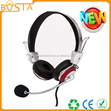 Computer accessory hifi stereo fancy color headset with microphone