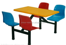 Colorful design, outdoor dining table, school dinning eating table