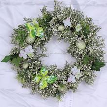 Popular hanging easter decoration wreath/ easter craft