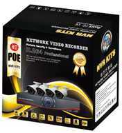 full HD H.264 720P 960P 4CH POE NVR kits , china top 10 supplier