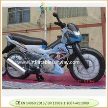 inflatable motorcycle used in advertising