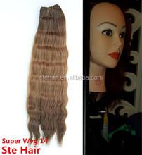 2015 stefull hair tangle free and no sheding blonde brazilian hair weave