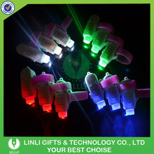 Custom Colorful Funny Mini LED Laser Finger Beam Ring Torch For Party Decoration