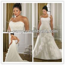 WD-427 Beautiful detachable floral one strap wedding dress fat woman