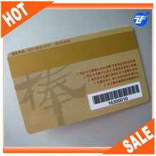 high quality CR80 plastic cards with barcode exporter