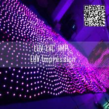 night club decoration curtain led ceiling lighting