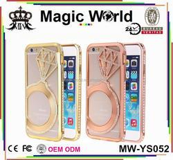 diamond bling aluminum metal frame bumper case FOR IPHONE 6