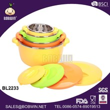 New design colorful stainless steel food warmer hot pot