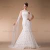 HM96106 High Collar Vintage Lace A Line Bridal Gown Wedding Dress in Dubai