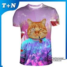 camisetas en blanco de impresión de proveedores de ropa china al por mayor