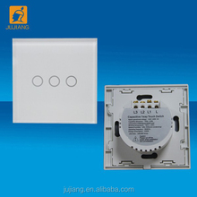 Glass panel smart home automation system touch timer switch with 1-3gangs