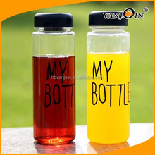 """Free shipping 500ml Korea style new design Today`s special plastic sports bike water bottle with words""""My bottle"""" and a gift bag"""