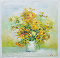 Cheap Wall Decorative Picture Impressionist Modern Flower Oil Painting