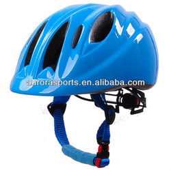 Direct factory cute kid helmet with LED light, custom child cycle helmet