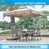 Cheap patio garden sun waterproof outdoor cafe umbrella