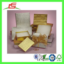 E0160 Recyclable Colored Metallic Embossed Foil Custom Set Up Chipboard Boxes
