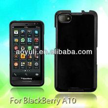 for Blackberry A10/Z30 case, black rubber PC phone case, case mobile phone