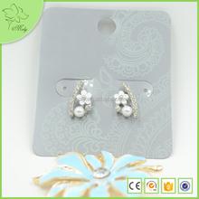 2016 Hot Sale Stud Earrings Wholesale Flower Crystal Jewelry