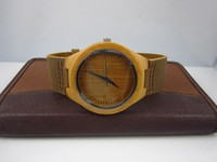 Free shipping wholesale natural bamboo wood wooded wristwatches for men and women 50pcs per lot