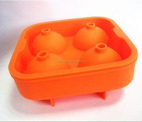 BPA free FDA approved food grade flexible various color 4 x 45mm ice cube sphere ball maker