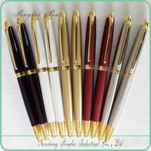 2015 customized logo gift raw materials metal pen with chrome finishes