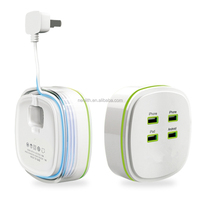 Universal Safety Smart 4.2A High Speed 4 Port USB Super Fast Charger /Power Adapter/ USB Charger For mobile phones