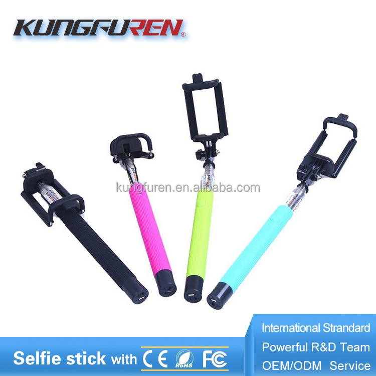 portable handheld flexible monopod selfie lens selfie stick wireless bluetooth shutter with rear. Black Bedroom Furniture Sets. Home Design Ideas