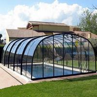 Used Prefabricated Swimming Pool Aluminum Sunroom Garden Glass House