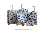 "Pu Luggage Case 4pcs set ISO certificate 4wheel manufacture factory oem 19""23""26""29inch hot sale 4 Wheels Pu Luggages"