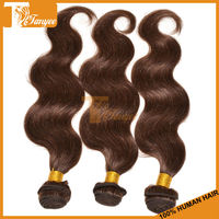 Hot Selling Mix 3pcs 14 16 18 Inch Color 4# Body Wave Remy Unprocessed Brazilian Virgin Hair