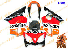 R E P S O L red orange Aftermarket ABS Injection Molding Fairing Bodywork Cowling Face CoverCBR600 F4i 2004 05 06 07 08