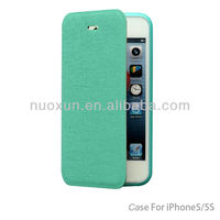 Great quality flip wallet leather case for iphone 5 5s case