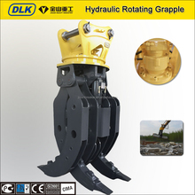 Hydraulic excavator rotating wood and rock grapple for DH255, R225, PC220