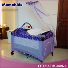 Chinese Manufacturer Wholesale Baby Playpen baby folding travel crib, accept OEM, mix item with more colors