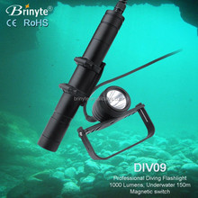 led rechargeable deep diving rebreather light