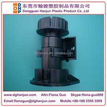 HJF-085A Plastic Adjustable Cabinet Leg/Leveling Feet +Drill Pattern End Panel Support +Combinet Clip