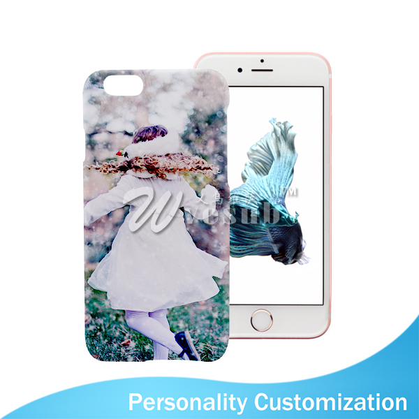 Custom diy priting 5 inch white plastic 3d sublimation for Diy custom phone case