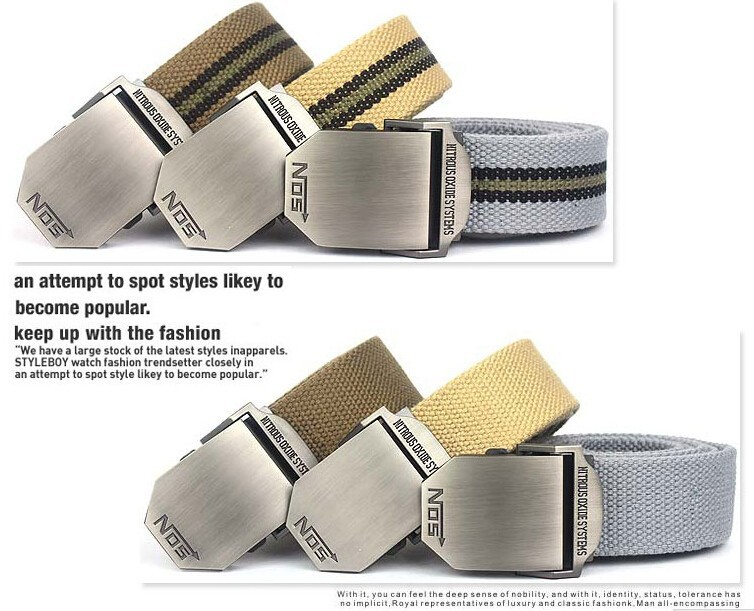2015 Hot NOS Men Canvas Outdoor Belt Military Equipment Cinturon Western Strap Men's Belts Luxury For Men Tactical Brand Cintos
