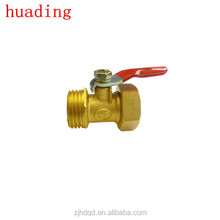 "1/4"" 3/8"" 1/2"" 3/4"" npt bspt brass body and iron handle ball valve"