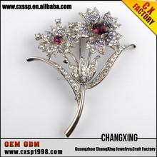 Top selling artificial diamond brooch