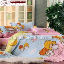 China suppliers Cartoon bedding comforter set ,100% cotton printed duvet cover sets ,home textile kids bed bedding sets