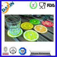 Easily Washable Fruit Slice Silicone Drink coaster glass pad