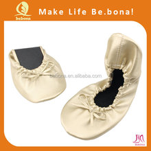 2015 new arrival high quality women shoes foldable ballet shoes in bag
