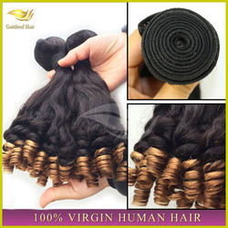Factory Direct Sell 5A Grade Top quality 100%Unprocessed human virgin 3 tone color ombre hair