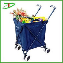 high quality folding shopping cart, vegetable shopping trolley bag