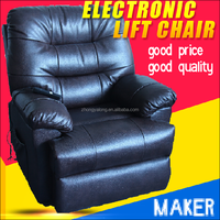 breathable pu faux leather electronical lift recliners with 8poings vibration massage and swivel rocking chairs