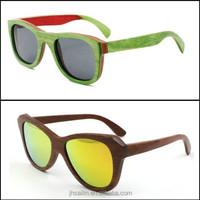 Custom Design stone skateboard wood sunglasses