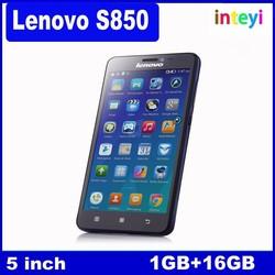 "Original Lenovo S850 smart phone WCDMA Android 4.4 MTK6582 Quad Core 1.3GHz 5.0""IPS1GB RAM+16GB ROM Camera 13.0MP+5.0MP Dual SIM"
